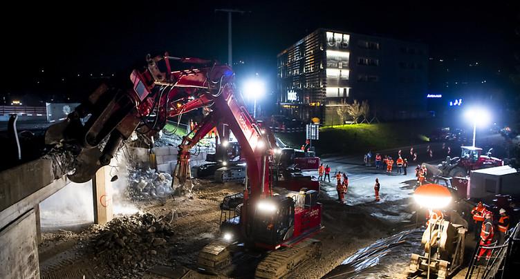 Gros travaux autour du demi-pont de la jonction de Chexbres