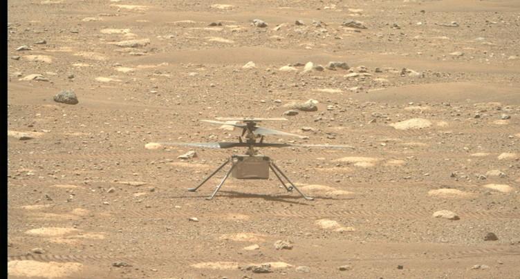 L'hélicoptère Ingenuity a effectué un court vol historique sur Mars