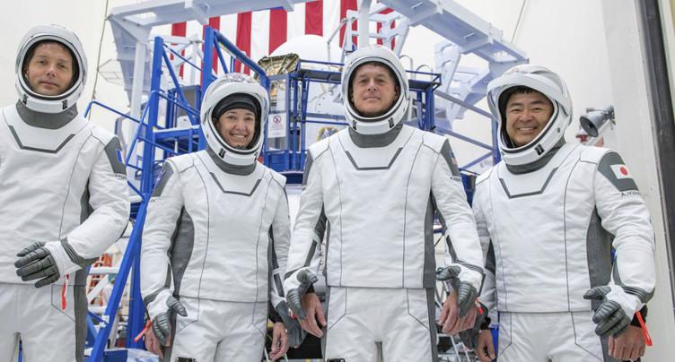 Quatre astronautes décollent jeudi vers la Station spatiale