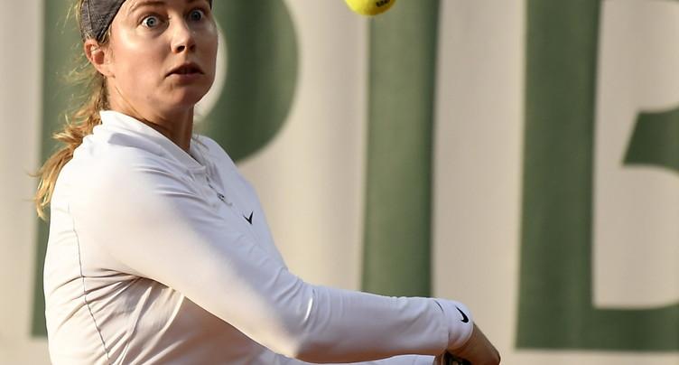 Stefanie Vögele battue au 1er tour à Stuttgart