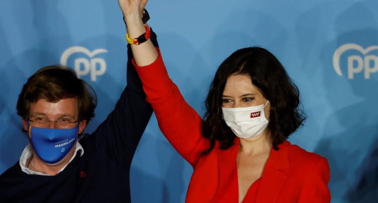 Elections régionales à Madrid: vers un net succès de la droite