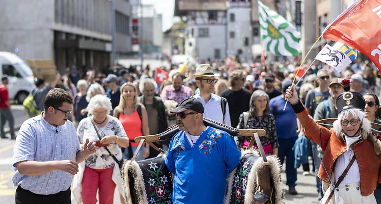 Quelques centaines de manifestants à Aarau