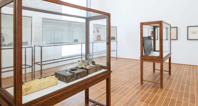 Don de onze vitrines de Joseph Beuys au Kunstmuseum de Bâle