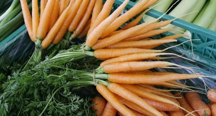 Les carottes sont le légume préféré des Suisses