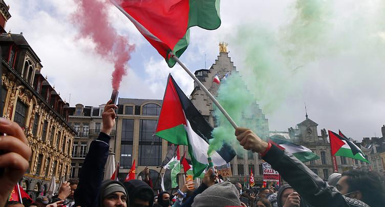 Les soutiens aux Palestiniens se sont rassemblés à travers l'Europe