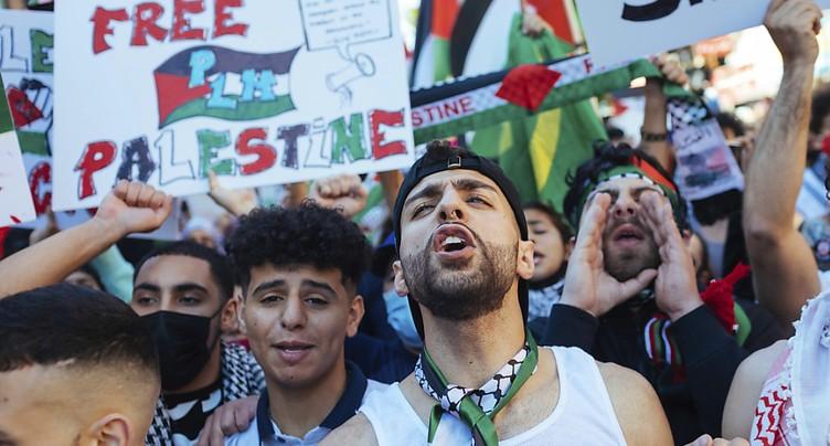 Des milliers de manifestants pro-palestiniens aux Etats-Unis