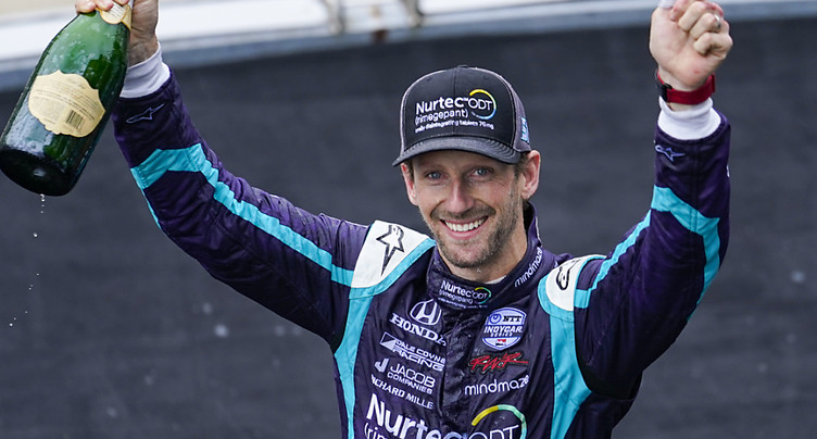 Grosjean 2e du GP d'Indianapolis