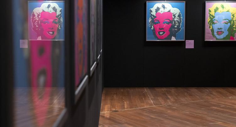 Exposition dédiée à Andy Warhol à Montreux (VD)