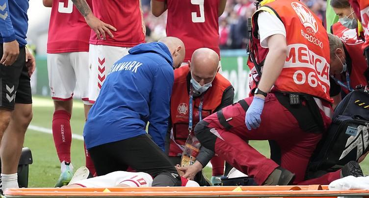 Malaise d'Eriksen, le match contre la Finlande suspendu