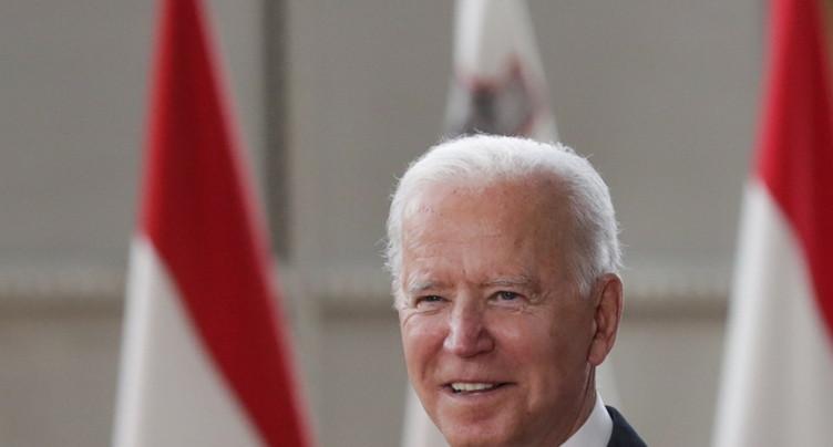 Le président américain Joe Biden a atterri à Genève