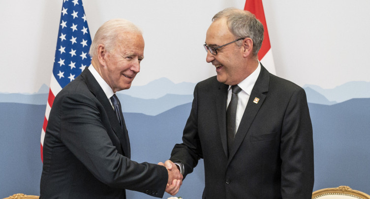 Début très protocolaire entre Joe Biden et Guy Parmelin