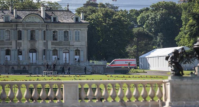 Le président russe Vladimir Poutine a atterri à Genève