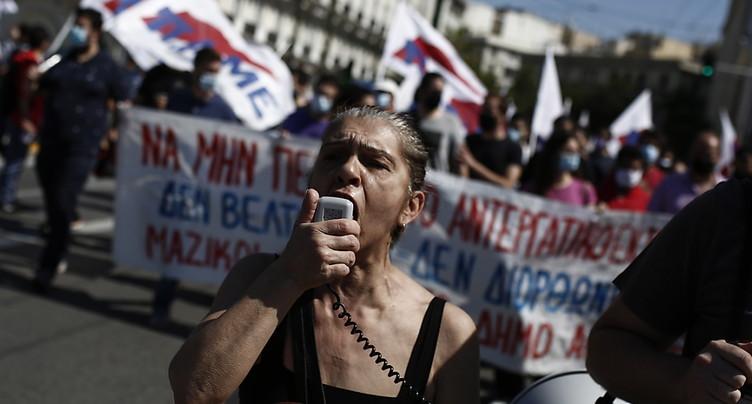 Grèce: grèves et manifestations contre un projet de loi travail