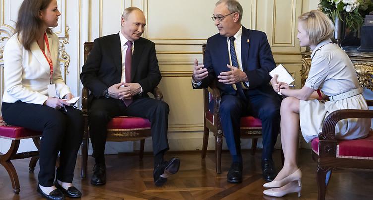 Poutine remercie la Suisse pour « une plateforme excellente »