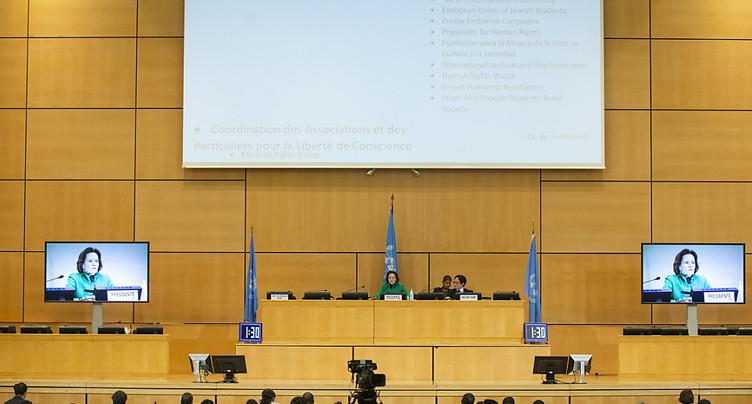 Lourd menu pour le Conseil des droits de l'homme à Genève