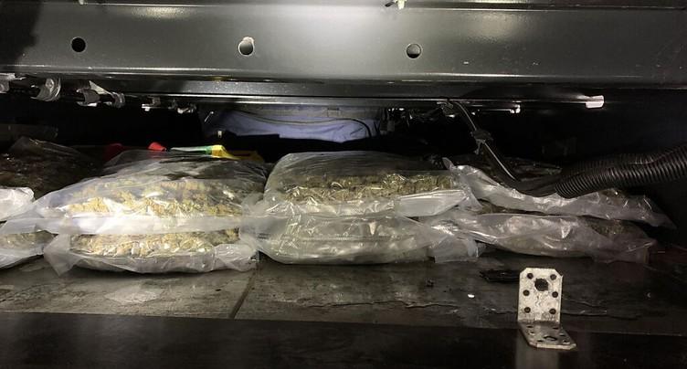 Saisie de 55 kilos de cannabis dans un camion à la douane à Bâle