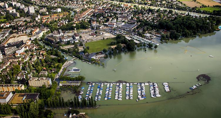 Pas d'augmentation du débit à la sortie du lac de Bienne