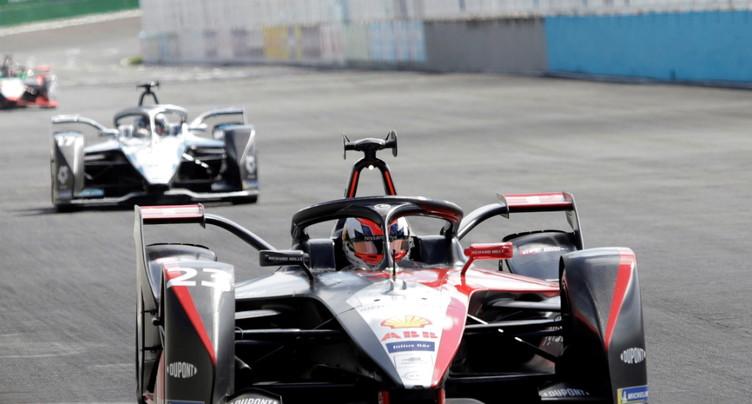 Formule E: Sébastian Buemi au pied du podium à Londres