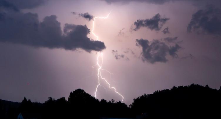 De violents orages et 25'000 éclairs sur la Suisse