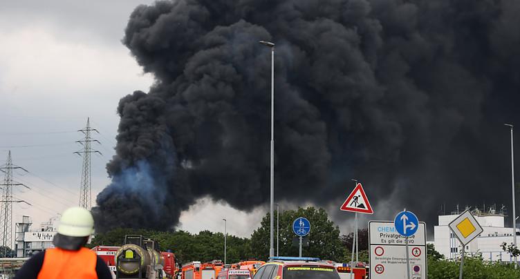 Explosion sur un site de traitement de déchets à Leverkussen: des blessés