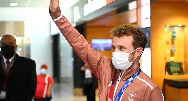 VTT: le premier médaillé suisse de Tokyo est rentré au pays
