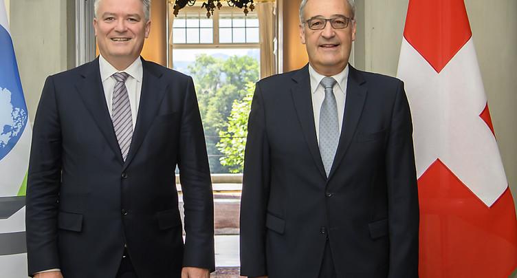Guy Parmelin a reçu le nouveau secrétaire général de l'OCDE