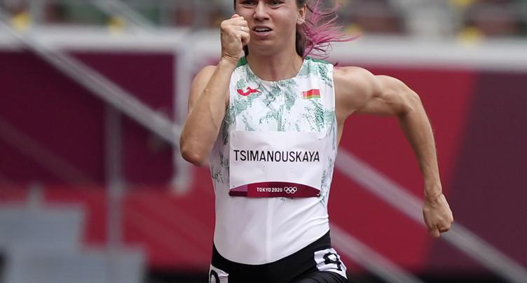 L'athlète bélarusse a quitté Tokyo