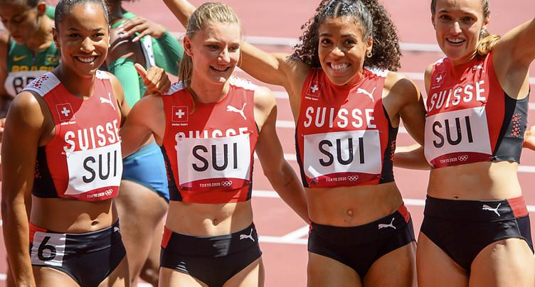 Finale et record de Suisse pour le relais 4x100 m