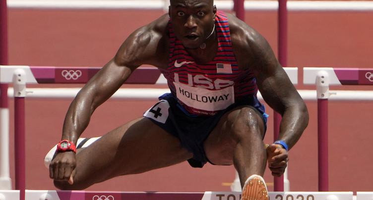 Parchment sacré sur 110 m haies, Holloway se rate