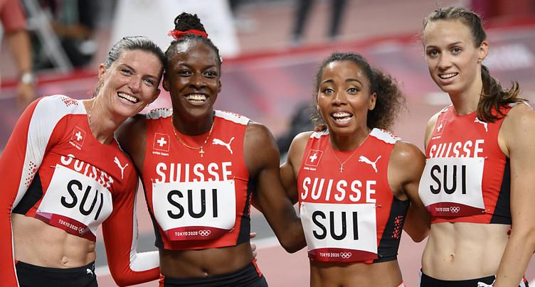 Suissesses du 4x400 m éliminées malgré un joli record
