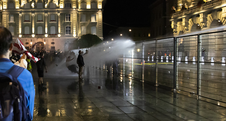 Manifestation: les « Freiheitstrychler » se distancient des violences