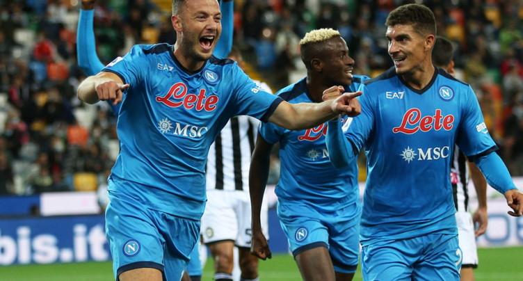 Serie A: Naples seul en tête avec le maximum de points