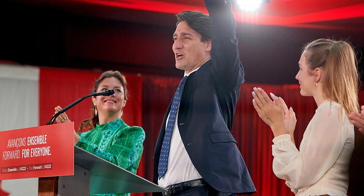 Une demi-victoire pour Trudeau, réélu mais toujours minoritaire