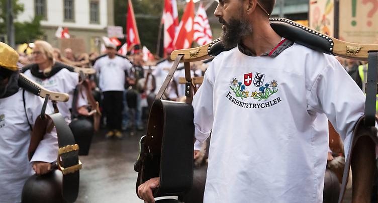 Pas d'accord entre Berne et les opposants aux mesures anti-Covid