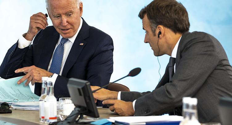 Sous-marins: Macron et Biden promettent de restaurer « la confiance »