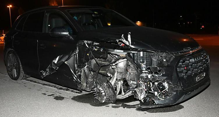 Disque de frein éclaté: deux blessés graves à Flums (SG)