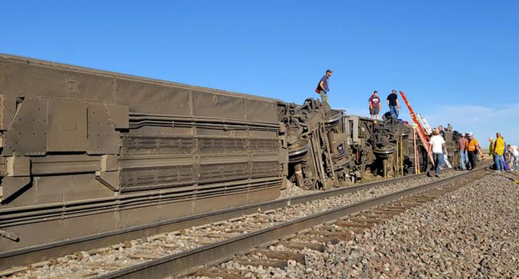 Un train déraille dans le Montana et fait des « blessés »
