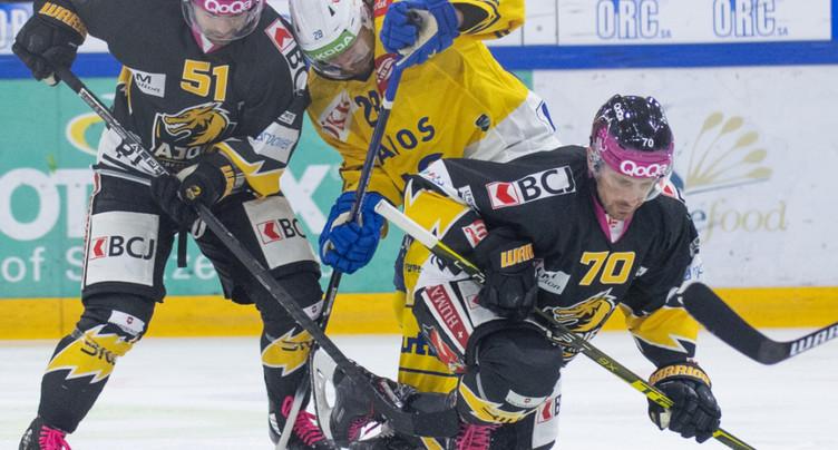 Ajoie plie contre Davos, Bienne remporte le derby