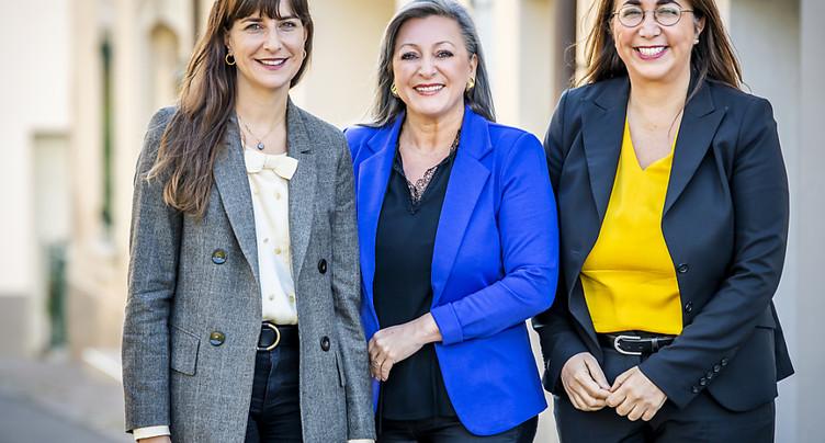 Nuria Gorrite, Cesla Amarelle et Rebecca Ruiz se représentent