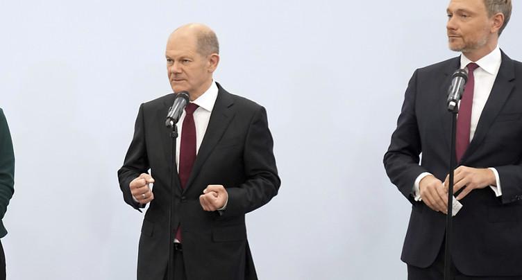 SPD, libéraux et Verts: accord préliminaire de coalition