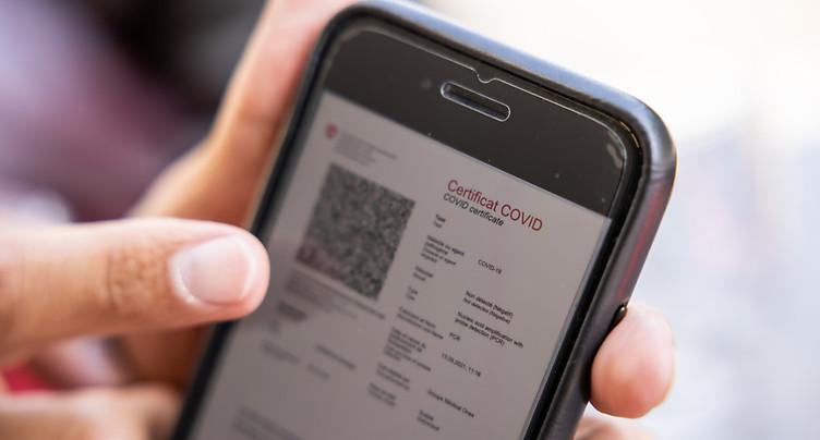 Panne en cours de l'application du certificat Covid