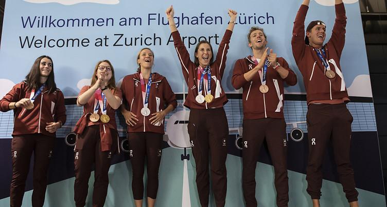 Réception pour les athlètes médaillés aux JO d'été à Macolin (BE)
