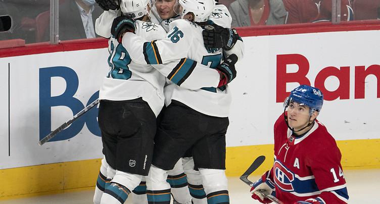 Meier et les Sharks coulent Montréal