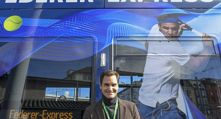 Roger Federer a désormais un tram à son nom à Bâle