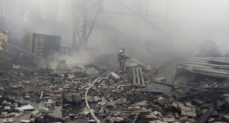 Seize morts dans l'incendie d'une usine d'explosifs