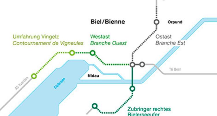 Pas de nouvelle solution fédérale pour le contournement de Bienne