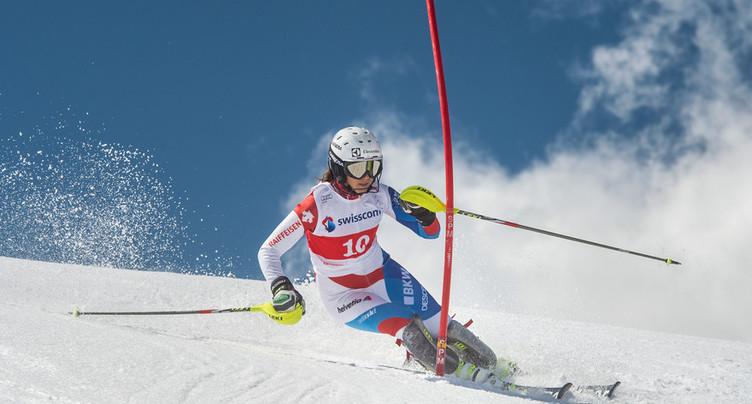 A un souffle d'une première victoire en slalom