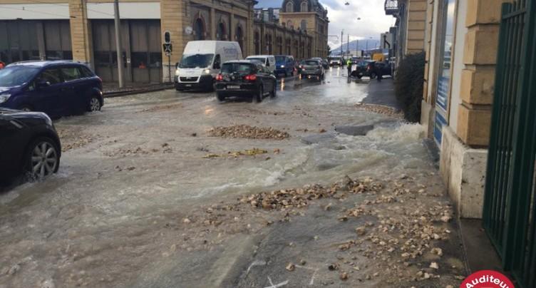 Inondation au Quai Philippe-Godet