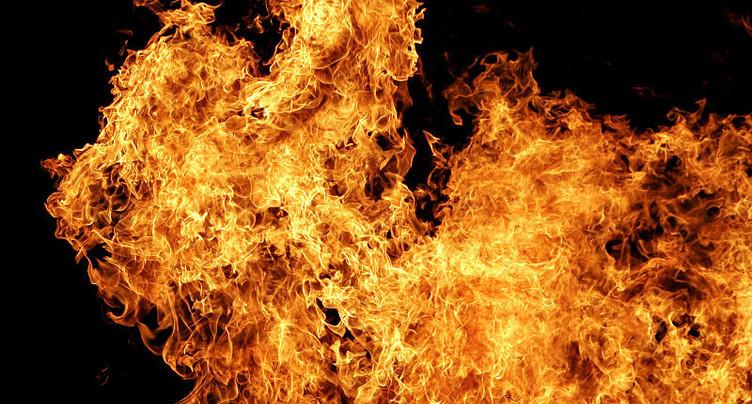 Une cabane de jardin a été la proie des flammes à Orpond