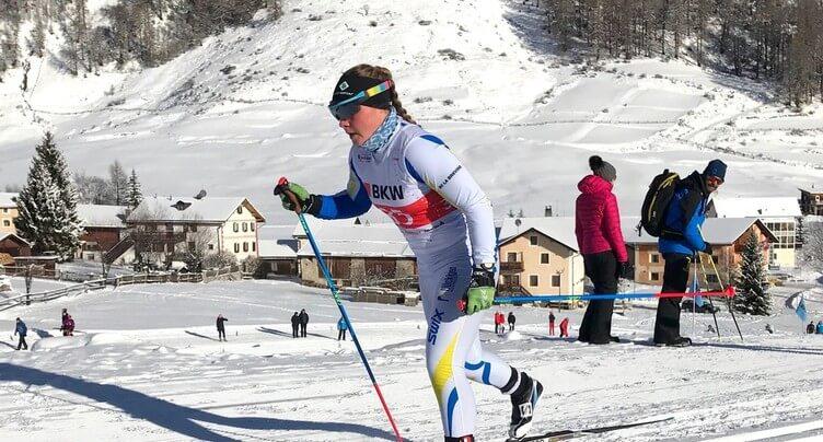 Solène Faivre au pied du podium